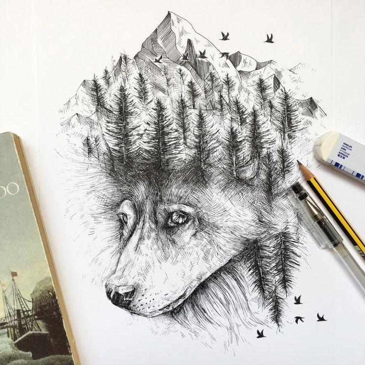 Wenn im Geweih des Rothirschs Vögel auf Ästen und Zweigen nisten, wenn dem Wolf eine steinerne Gebirgskrone auf dem Haupt wächst und der Buckelwal …