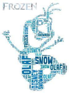 free disney frozen olaf inspired word art print | Self Print It
