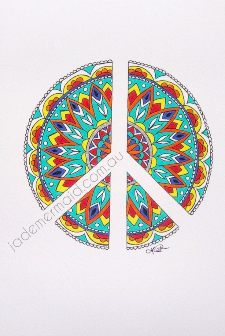 """print of original """"Peace"""" artwork by Kayleigh Rowbottam. High quality print on Hahnemuhle 100% rag textured watercolour paper"""