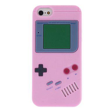 Conçu Consoles de cas de motif de gel de silice stéréo pour iPhone 5/5S spéciale (couleurs assorties) – EUR € 3.77