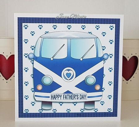 I printed this onto matte photo paper, the card size is 160mm. I chose the Happy Father's Day sentiment for the reg plate.