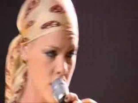 Pink - What's up (live) I am not a huge fan of Pink, but she did a stellar job on this cover!!