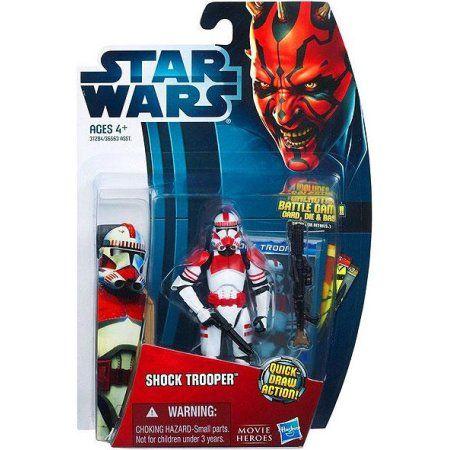 Star Wars Movie Heroes 2012 Shock Trooper Action Figure, Multicolor