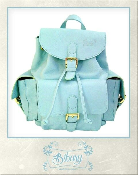 Backpack color verde menta!!!! Cutie!!!!