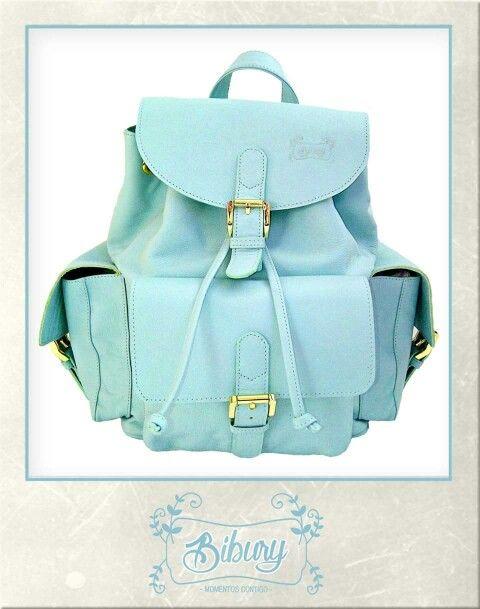 Backpack color verde menta!!!! Cutie!!!!