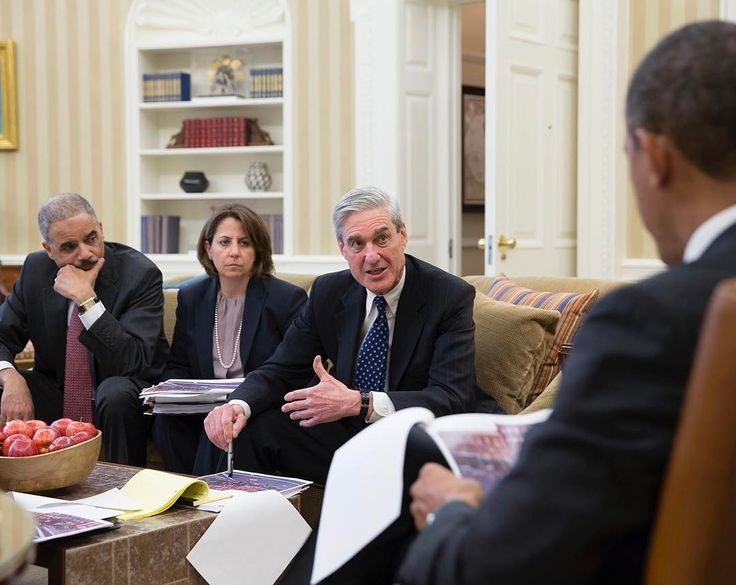 "Pete Souza on Instagram: ""Robert Mueller, then FBI Director, briefs President Obama after the Boston Marathon bombing in 2013. With Homeland Security Advisor Lisa…"""