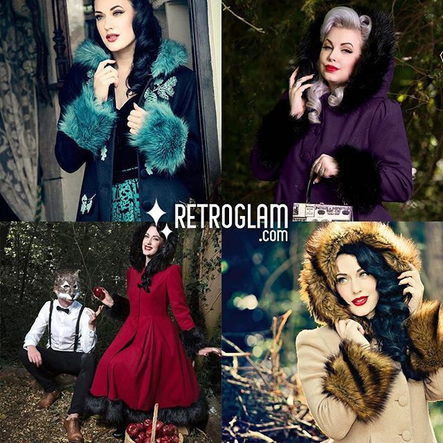 All the beautiful #hellbunny winter coats ❤️ #retroglam #pinup #rowena #shop #canada