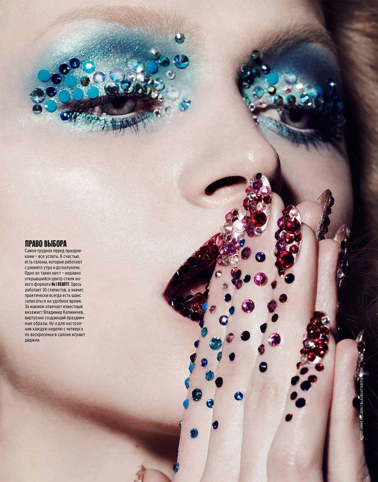 The Marie Claire Russia Winter Nelson Photoshoot Highlights Sparkles #makeup trendhunter.com: