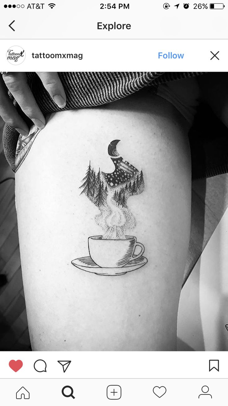 Coffee mountains tattoo
