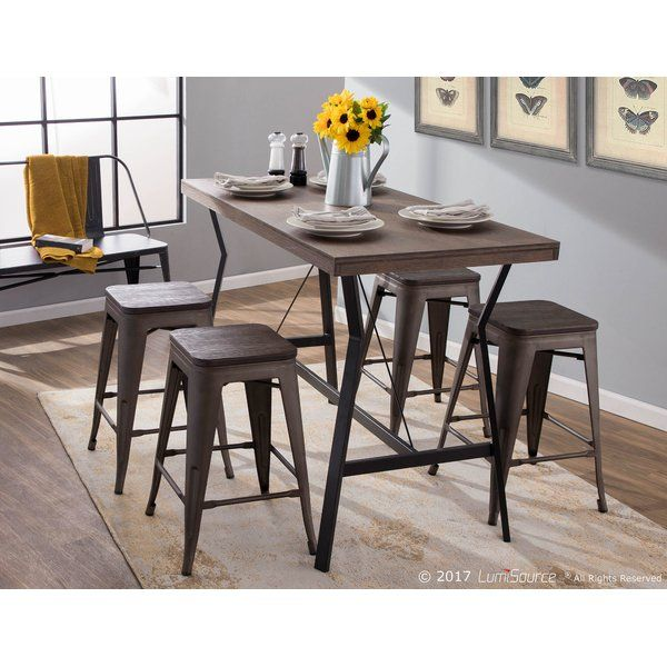 Adelmo Counter Height Dining Table In 2020 Counter Height Dining