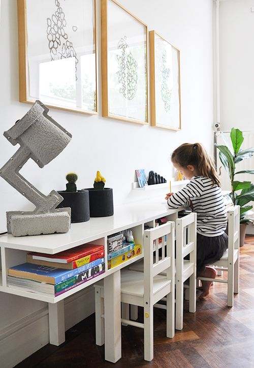 Idea - get or make tall chairs for breakfast bar.      Hook them together. Or have a tall bench made, with safety features - sides? front bar?