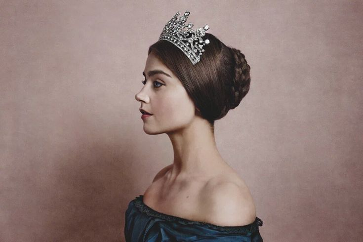 I'm watching 'Victoria', based solely on this picture. I dont usually watch static, laborious drama but I'm drawn to long, slender necks... (!)