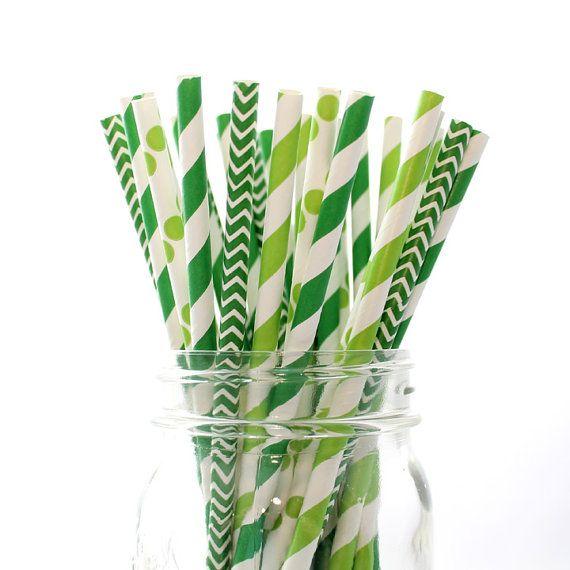 St. Patty's Day Mix Paper Straws   Wedding, Bridal Shower, Baby Shower, Birthday, St. Patrick's Day   The Pretty Party Shoppe