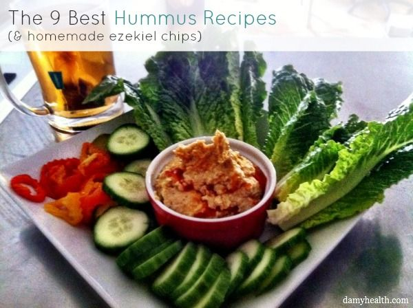 The 9 Best Hummus Recipes (and homemade ezekiel chips) | DAMY Health  Hummus is high in fiber that slows digestion and keeps blood sugar levels from rising too quickly. Chickpeas contain iron and manganese that keep our energy levels up and our blood healthy. Chickpeas are also a complete protein and a healthy source of carbohydrates. Olive oil is a wonderful source of healthy fats extremely important because they help us keep our hair, skin, and nails healthy.