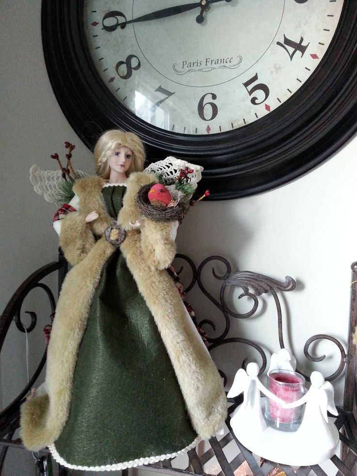 My latest Christmas angel that I just bought this year. This one is Celtic, and her wings are made of stiffened Irish crochet. www.christinelindsay.org