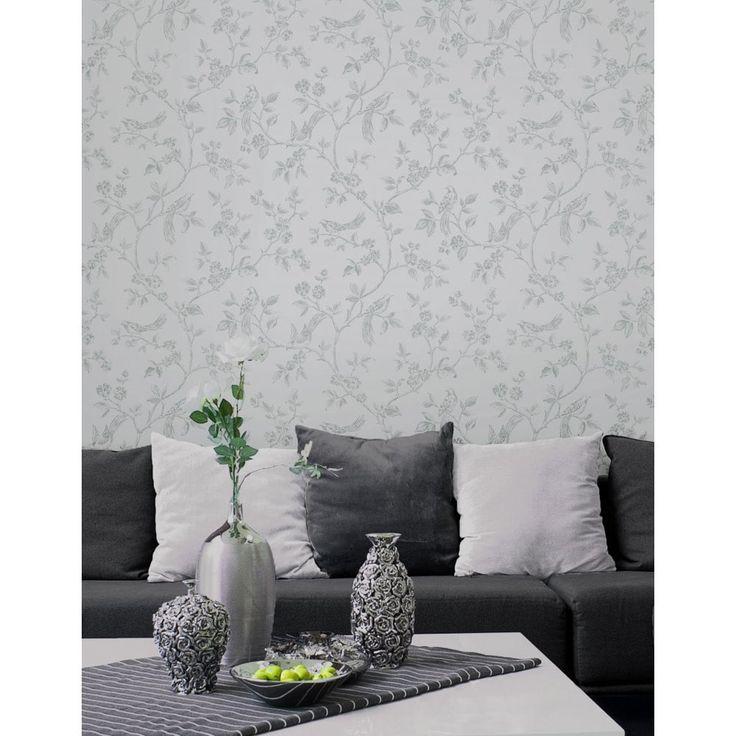 I Love Wallpaper™ Shimmer Birds Soft Grey (ILW980044)
