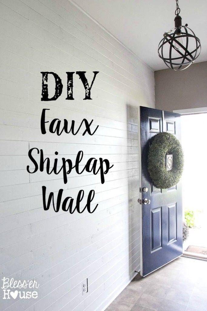 DIY Faux Shiplap Wall (without the plywood) | Bless'er House