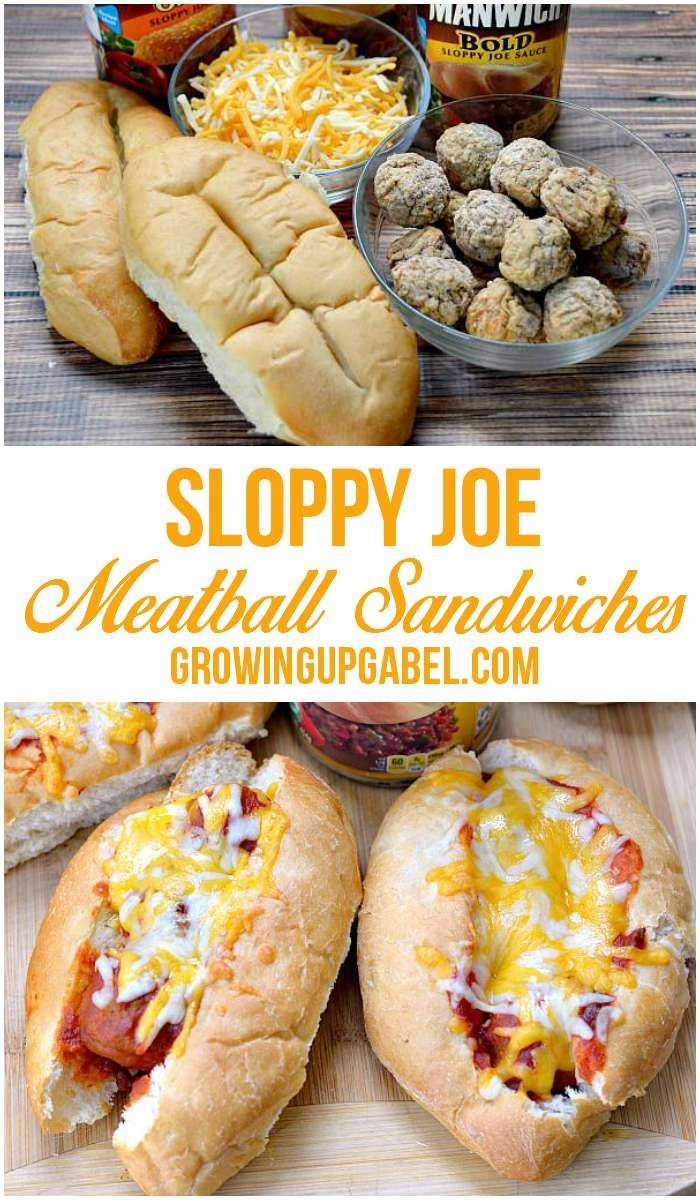 Need a quick and easy dinner recipe? Make this fun twist on sloppy joes! Just heat meatballs with sloppy joe sauce and serve in a warm and toasty bun for an easy baked meatball sub.
