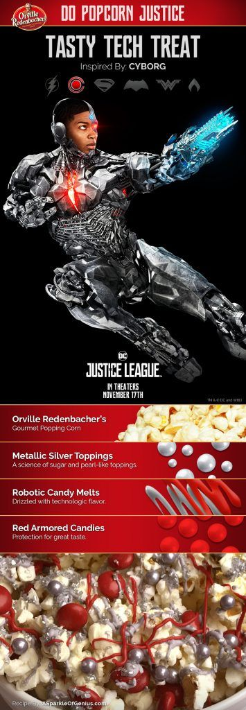 Tasty Tech Treat Popcorn: inspired by Cyborg #orvillepopcornjusticesweepstakes