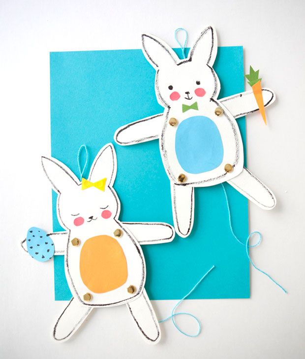 Jumping Jack Bunnies Fun Kid's Paper Craft !