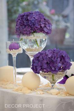 """Фиолетовая свадьба в ресторане """"Маэстро"""".  65 000 р."""