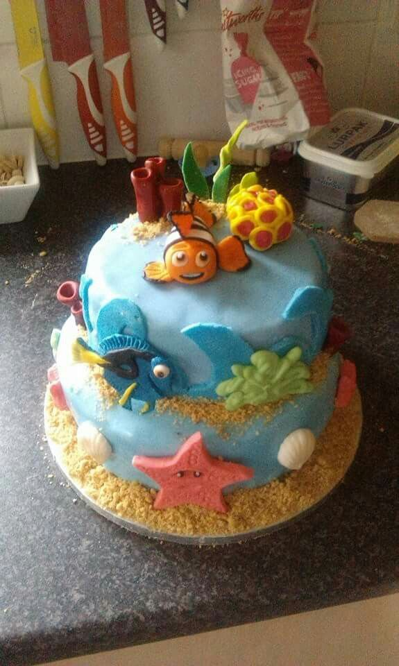 Finding Nemo cake for my sons 2nd birthday :)