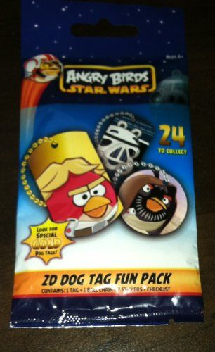 1 - PACK - STAR WARS ANGRY BIRDS - OFFICIAL DOG TAG & NECKLACE @ niftywarehouse.com #NiftyWarehouse #Geek #Products #StarWars #Movies #Film