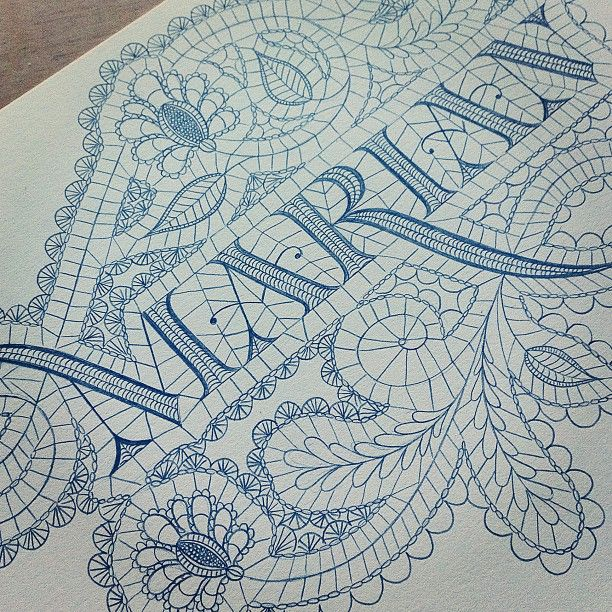 Jessica Hische   Lace calligraphy.