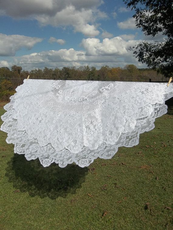 Vintage Lace Tablecloth Wedding Decor Table Settings By Misshettie, $24.00