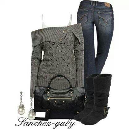 I could look forward to cold weather with an outfit like this!