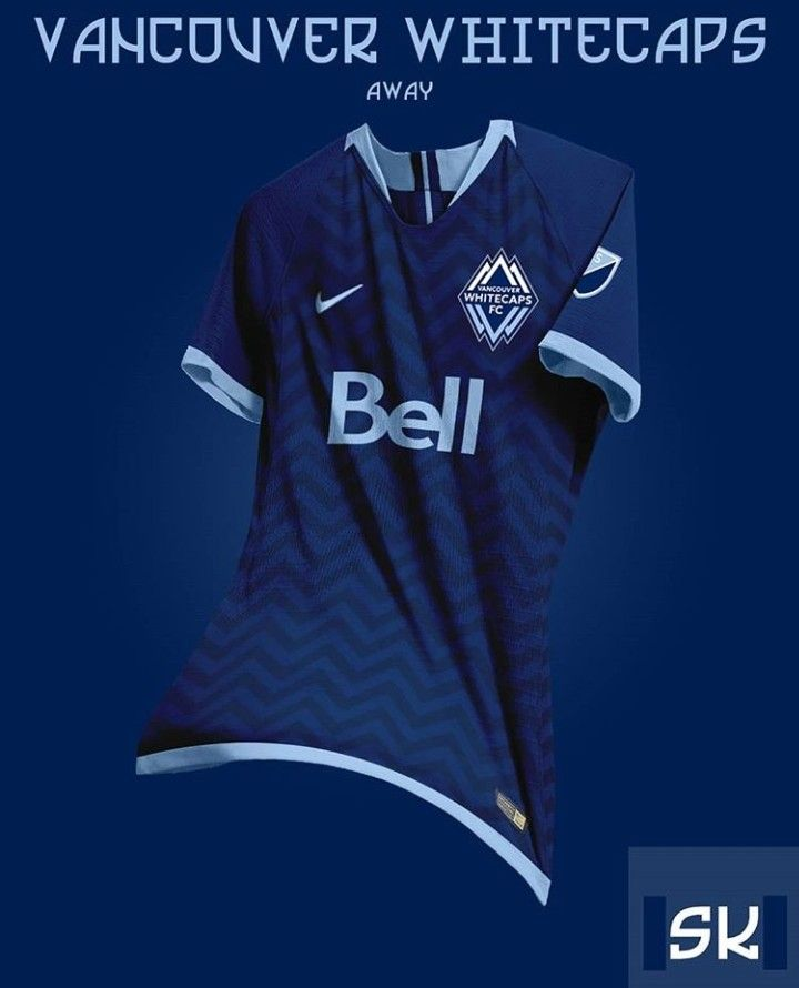 Mls Team Vancouver Whitecaps Blue Away Kit Concept Jersey Design