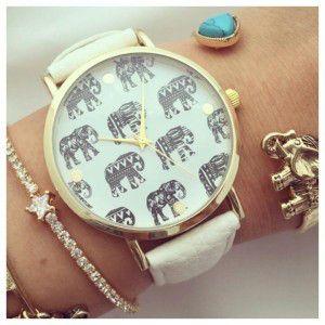 Reloj elefante cuero