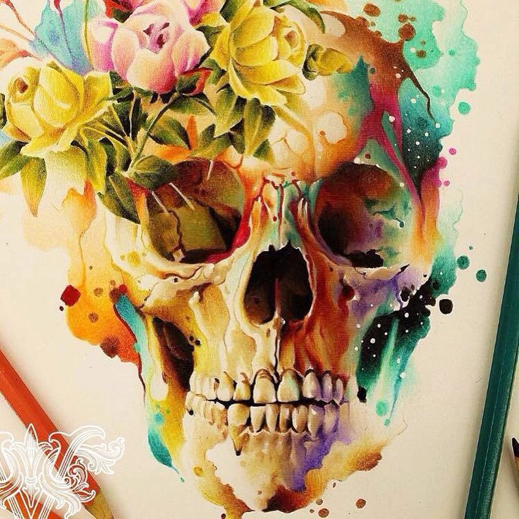 skull art by @Vareta
