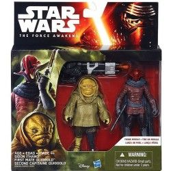 SIDON ITHANO AND FIRST MATE QUIGGOLD STAR WARS THE FORCE AWAKENS 2PACK ACTION FIGURE