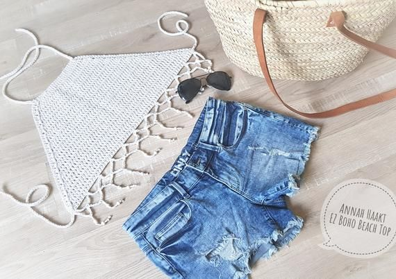 Us Crochet Pattern Boho Beach Top By Annah Haakt Crocheted Halter Top Bralette The Row Bralette Haakpatronen
