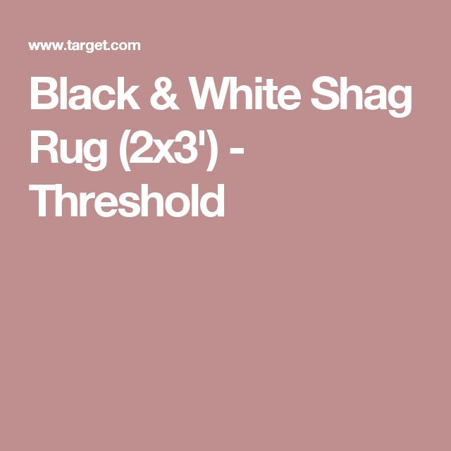 Black U0026 White Shag Rug (2x3u0027)   Threshold
