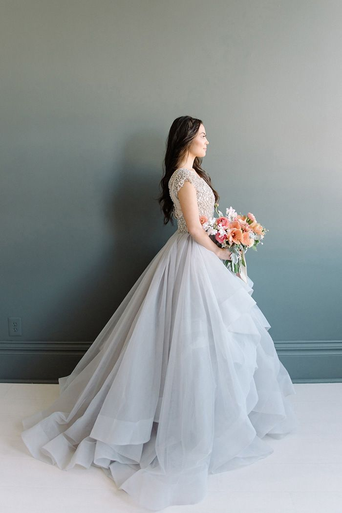Dreamy Pastel Hayley Paige Wedding Dress