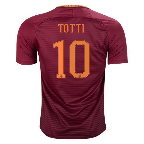 Nike Francesco Totti Roma Home Jersey 16/17 - WorldSoccershop.com   WORLDSOCCERSHOP.COM