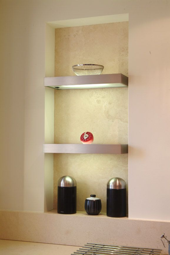 Light up your home decor with this innovative shelving design.