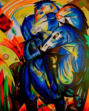 Chevaux bleus - franz marc