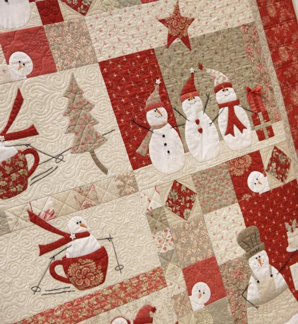 For Carolyn and Heather....  Love Winter/Christmas quilts bunnyhillblog.com