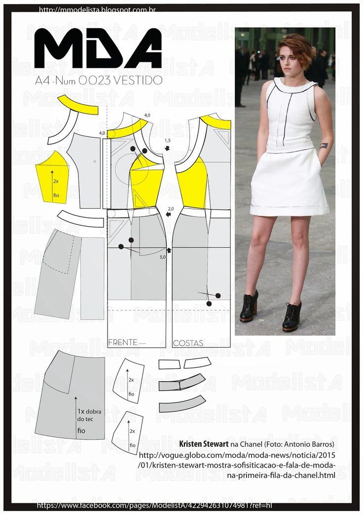 ModelistA: A4 - NUM - 0023 - VESTIDO