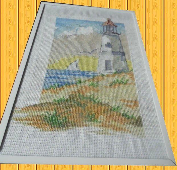 l'angolo di Daggry: cross stitch lighthouse marine