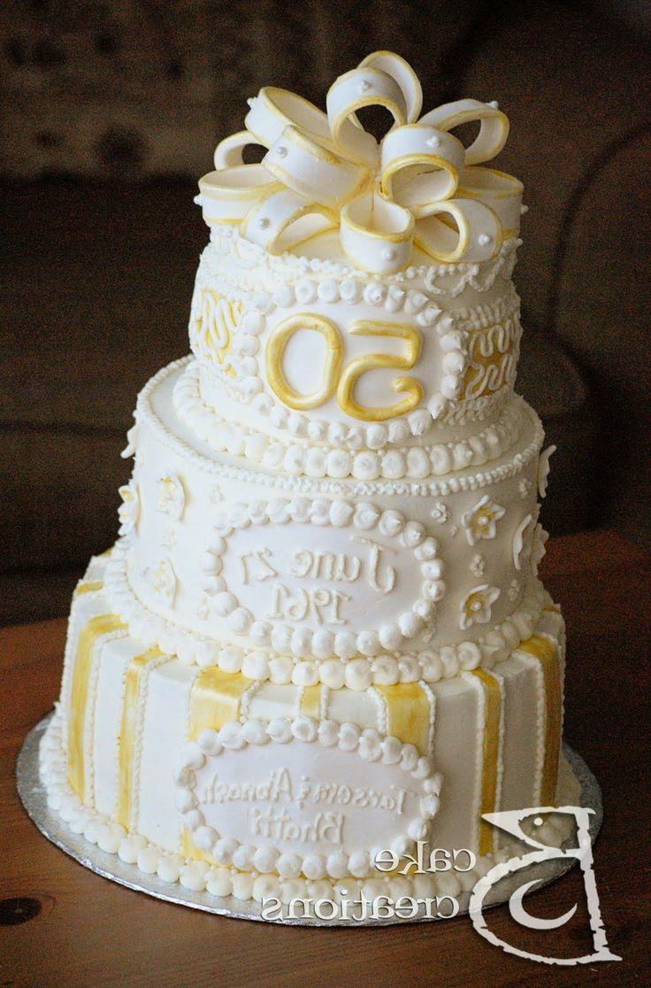 50th Wedding Cake Ideas