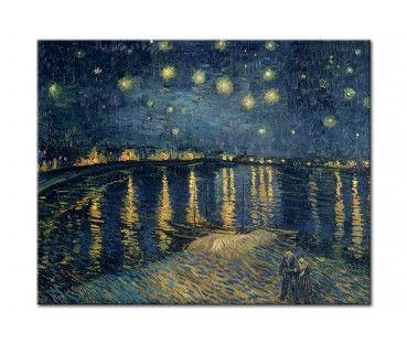Quadro Vincent van Gogh: La notte stellata sul Rodano