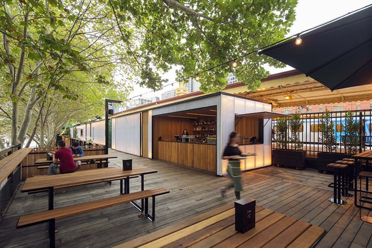 Melbourne's tree-lined Arbory Bar & Eatery travels above a stretch of disused rail track... http://www.we-heart.com/2015/03/17/arbory-bar-melbourne-eatery/