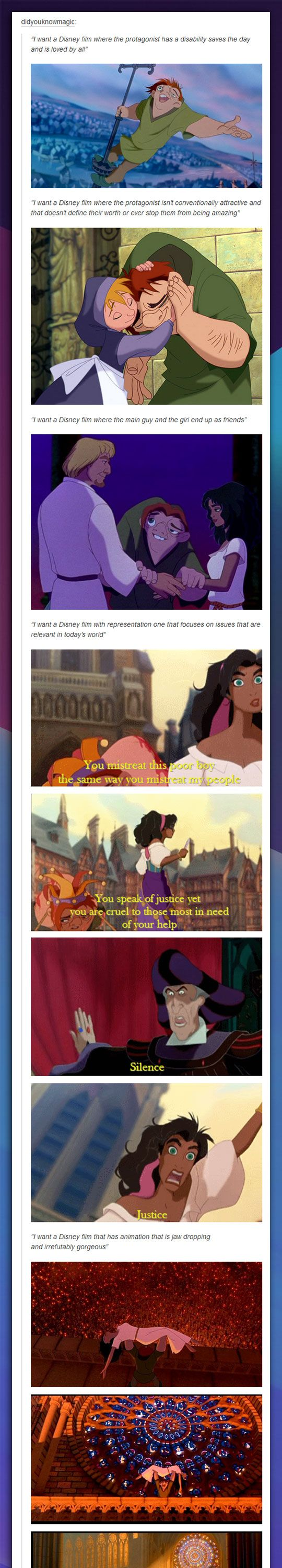 This movie is definitely one of the greatest Disney films ever made, and I think everyone should see this.