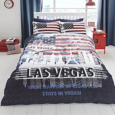 super weich und strapazierf hig mit baumwolle bettw sche pictorial las vegas motive. Black Bedroom Furniture Sets. Home Design Ideas