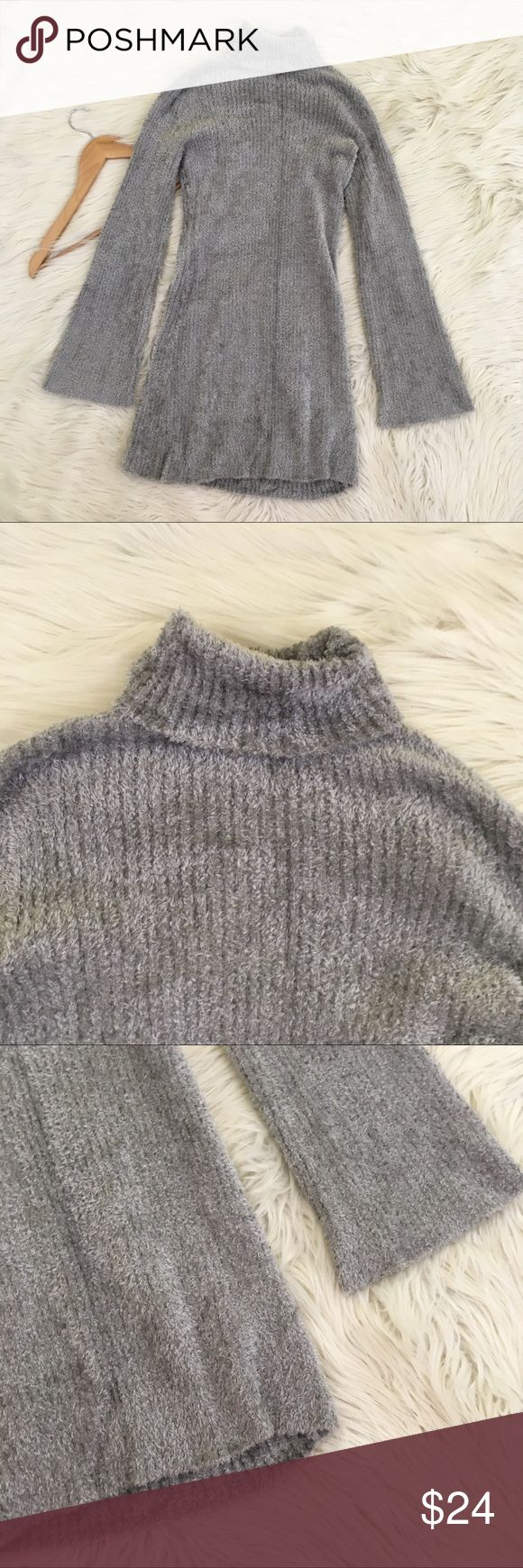 INC international Concepts Fuzzy Sweater Dress Inc international Concepts women's medium sweater dress • Fuzzy Faux Fur material • Light grey • Turtleneck • micro mini, best worn with leggings • Fitted and stretchy • excellent condition no flaws  Length: Armpit to armpit:  📌NO lowball offers 📌NO modeling 📌NO trades  Come check out the rest of my closet! I have various brands and ALL different sizes ❤️  Tags for discovery: INC International Concepts Dresses Long Sleeve