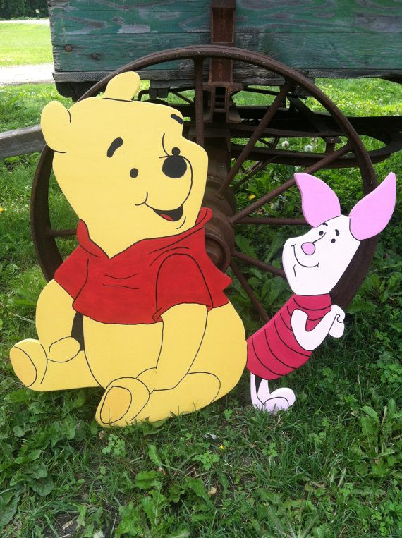 BFF's Pooh and Piglet Wood Yard Art or Standee by funfromthefarm, $27.00